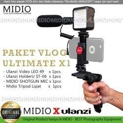 Paket Vlog Midio Ultimate X1 Vlogger Vlogging dan Livestreaming