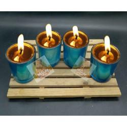 Gelas lilin chrome warna - gelas lilin minyak - tempat lilin murah