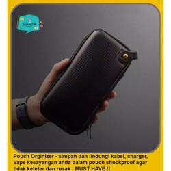 Pouch Travel Bag Origanizer Kabel, Charger, earphone, Tas shockproof