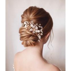 Sirkam Rambut Aksesoris Hiasan Bunga Headpiece Hairpiece Pesta