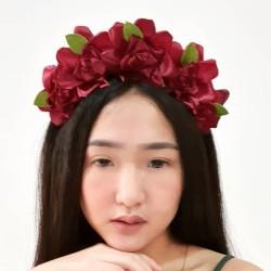 Bando Bunga Mawar (flower Crown)