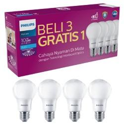 Lampu LED Philips 10 watt multipack 10w Promo beli 3 gratis 1