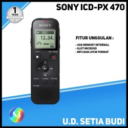 Alat Perekam Suara / Voice Recorder SONY ICD-PX470 Asli dan Bergaransi