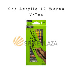 Cat Acrylic V-Tec 12 Warna - Cat Akrilik Set VT-612A