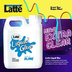 jual lem LATTE LIQUID GLUE cair untuk SLIME 500ML 500 ml