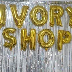 Backdrop Foil / Tirai Foil / Rumbai / Pesta / Party Curtain Laser