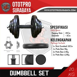 Paket Dumbbell Set 20kg /Dumbel/Dumbell/Dumbbel/Dambel/Barbel/Barbell