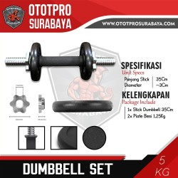 Paket Dumbbell Set 5kg /Dumbel/Dumbell/Dumbbel/Dambel/Barbel/Barbell