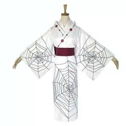 fullset kimono +wig RUI iblis bulan kimetsu no yaiba demon slayer
