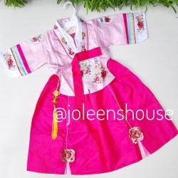 Hanbok Sedang Pink New Baju Kostum Korea Anak Perempuan