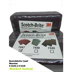 3M SCOTCH / SCOTCH BRITE 7447 SCOURING PAD/SIKAT/SABUT 23x15 CM