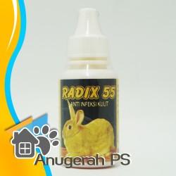 RADIX 55 30ml-Obat Scabies, Kudis, Eksim, Koreng, Gatal pada Kelinci