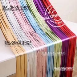 Backdrop Foil / Foil Fringe Curtain / Background Foil / Tirai Foil - SILVER DOFF