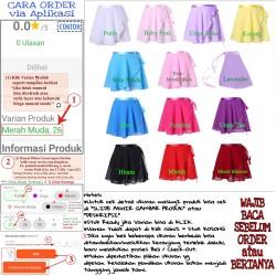 Ballet Chiffon Wrap Skirt Rok Balet Sifon Tali Pita ukuran Anak-Dewasa