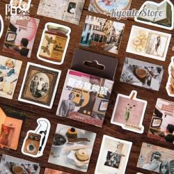 45 Pcs Sticker Deco Retro Aesthetic Journal Scrapbook DIY Bujo Planner