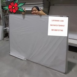 Whiteboard gantung 90 x 120 cm