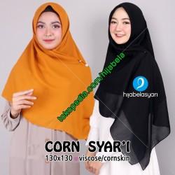 Hijab Segi Empat Jilbab Cornskin Syari Kerudung Segi Empat Corn Syari