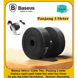 BASEUS Cable Organizer Velcro Strap Wire Clip Pengikat Ties Kabel 3m