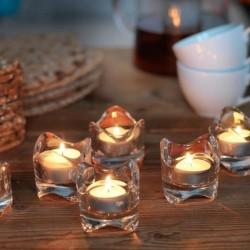 Tempat Lilin Kaca Elegant Transparant Cantik Candle Holder - tempat lilin