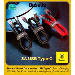 BASEUS Kabel Data Charger Kevlar USB Type-C 3A Fast Charging QC 3.0