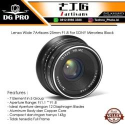 Lensa Wide 7Artisans 25mm F1.8 For Sony E-MOUNT - 7Artisan Black