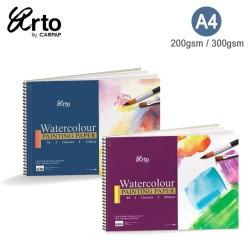 Arto A4 Cellulose Watercolor Wire-O Book