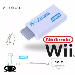 Adapter Converter Nintendo Wii To HDMI Resolusi HD 720 1080 HD
