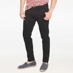 2Nd RED Celana Panjang Chinos Pola Slim Fit Melar Hitam 115524