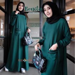 Bonita Long Dress Syari - Baju Gamis Wanita Terbaru