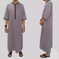 Jubah Saudi Lengan Pendek / Jubah Polos / Gamis Muslim Pria FARRASI