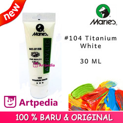 Maries - Titanium White / Maries Acrylic Paint 30ML (Cat Akrilik)