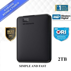 WD Element Elements 2TB Hitam - HD HDD Hardisk Eksternal External 2.5""