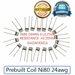 PREBUILT COIL NI80 24AWG RESISTANCE -+0.2OHM