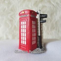 MAGNET KULKAS 3D TELEPHONE BOX BUS TENTARA LONDON INGGRIS