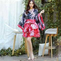 Kostum Cosplay Wanita Kimono Anime Jepang Dengan Pita