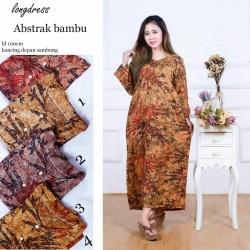 Longdress Batik Bambu Ecer dan Grosir