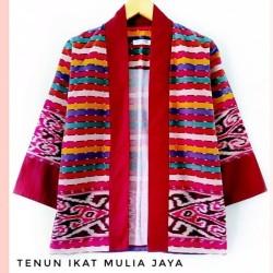 blazer tenun etnik dayak lolipop / outwear kimono batik tenun modern