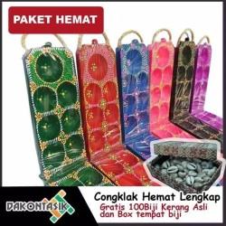 Paket Plus Hemat - Dakon Congklak kayu lipat mainan tradisional anak