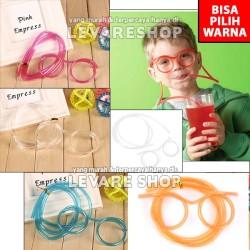 Sedotan Kacamata/ Drinking Straw Glasses - Unik Lucu