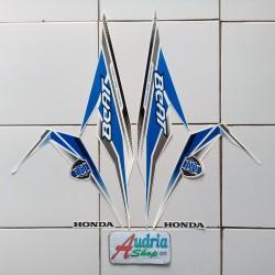 Striping Stiker Motor Honda Beat FI Cw 2019 Full Putih-Biru