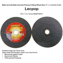 "Mata Gurinda Batu Gerinda Potong Cutting Wheel Disc 4""x1.2 mm Lecpop"