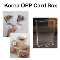 Korea OPP Card Box - kartu ucapan - kotak Bening - baranga florist