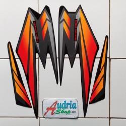 Striping Stiker Motor Yamaha Rx King 2002 Hitam-Merah