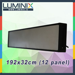 Paket DIY Box / Casing /Frame Running Text 192cm x 32cm (12 panel)