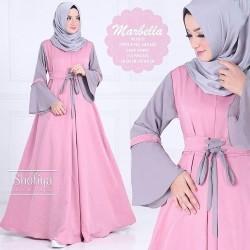 Baju Gamis Wanita Terbaru - Marbella Dress - Baju Dress Hijab Murah