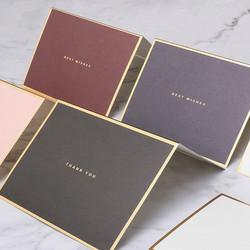 kartu ucapan terima kasih best wishes ulang tahun card elegan gold