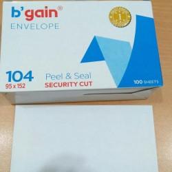 Amplop Putih B'gain Ukuran 104 95x152 Mm Peel & Seal / BGAIN