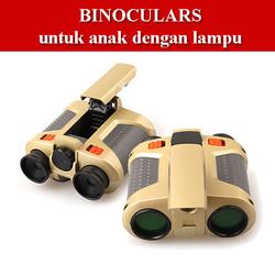 Binoculars Night Scope Anak dengan Pop Up Light Teropong Binokular