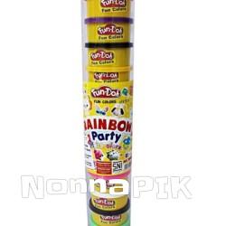 Mainan Lilin Fun Doh Rainbow isi 12 / Refill Fun Doh