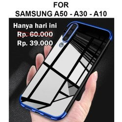 Case Samsung A50 - A30 - A10 softcase casing hp back cover TPU PLATING